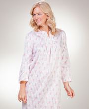 Carole Hochman Nightgowns - Brushed Back Satin Gown In Ribbon Pink