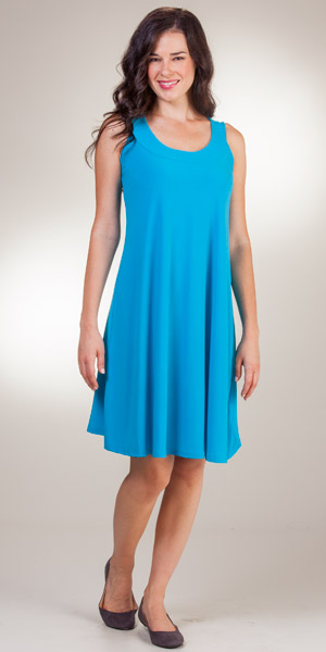 Ellen Parker A-Line Sleeveless Dress - Blue Party Dresses for Women