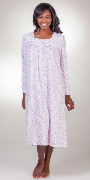 Cotton Nightgowns Eileen West Jersey Knit Long Sleeve