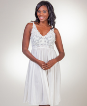 Shadowline Nightgown Waltz Sleeveless Silhouette Nightgown in Ivory