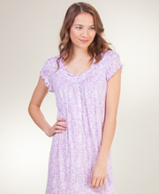 MicroModal Nightgowns - Long Eileen West Cap Sleeve - Lilac Sensation