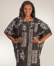 Peppermint Bay Cotton Loungers - One Size Fits Most Kaftan in Musicale