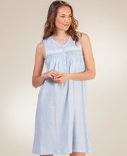 Eileen West Cotton Knit Sleeveless Short Nightgown in Dream Castle