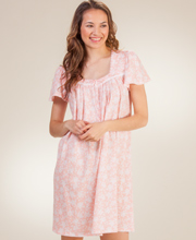 Aria Cap Sleeve 100% Cotton Short Nightgown - Charisma Floral