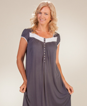 Cap Sleeve Eileen West Micro Modal Mid Nightgown - Dream Nostalgia