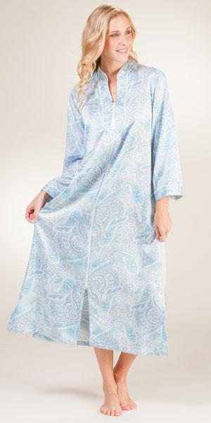foto de Miss Elaine Robes Brushed Back Satin Zip Front Robes in