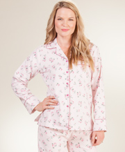 Cotton Flannel Pajamas - Long Sleeve Kayanna PJs in Pink Floral