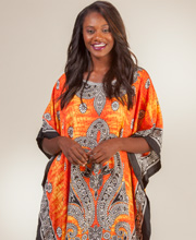 Sante One Size Caftans - Poly Long Kaftan in Sunrise