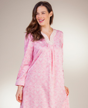 Carole Hochman Nightgowns - Brushed Back Satin V-Neck in Rose Manor