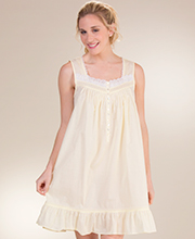Eileen West Cotton Lawn Sleeveless Waltz Nightgown in Buttercup Cheer