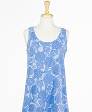 Icantoo Cotton Sleeveless A-Line Beach Dress Cover Up - Peri Seashells
