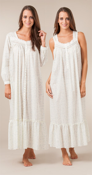 Amazon.com: Eileen West Lavender Field Cotton Nightgown: Clothing