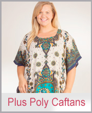 >Plus Poly Caftans