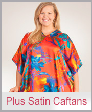 >Plus Satin Caftans