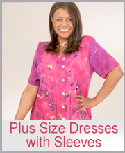 >Plus Size Dresses with Sleeves