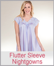 Shadowline Flutter Sleeve Nightgowns