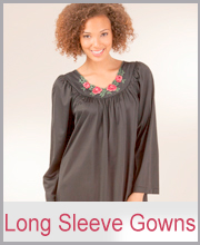 Shadowline Long Sleeve Nightgowns