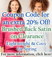 Brushed Back Satin Sale - Save on all Brushed Back Satin Nightgowns & Pajamas!