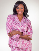Pajamas for Women - Brushed Back Satin, Cotton, Flannel, Fleece