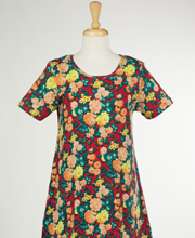 La Cera Plus Cotton Dress Knit - Short Sleeve in Floral Glow