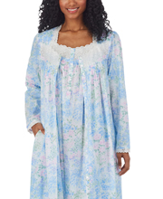 Eileen West Nightgown & Robe Set - 100% Cotton Lawn Ballet in Artist's Meadow