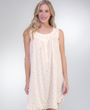 Eileen West Cotton Knit Sleeveless Chemise in Butter Rose