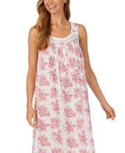 Eileen West Sleeveless Ballet Nightgown - Cotton Lawn in Cherry Floral