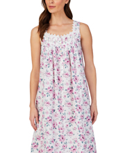 Eileen West  Cotton Lawn Sleeveless Night Gown in Sparkling Watercolor