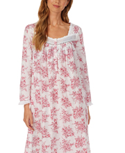 Eileen West Long Sleeve Ballet Nightgown - Cotton Lawn in Cherry Floral