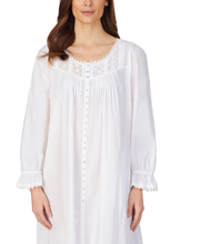 Eileen West Cotton Lawn Ballet Button-Front Robe or Gown in Lily White