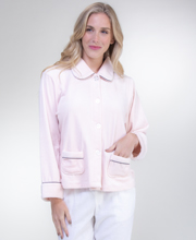 KayAnna Soft Velour Bed Jacket - Pink