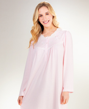 Miss Elaine Honeycomb Knit Short Gown in Pink Cuddleknit