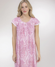 Miss Elaine Cottonessa Long Gown in Blush Wine Paisley