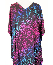 Eagle Ray Traders Rayon Caftan Dress in Moonflower