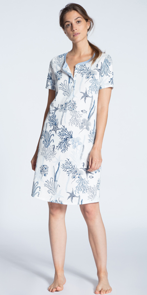 Casual Nights Womens Cotton Knit Short Sleeve Nightgown Sleep Shirt