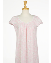 Miss Elaine Silkyknit Flutter Sleeve Short Nightgown in Pink Sweetness