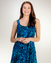 Eagle Ray Traders Sleeveless Batik Dress in Monterey Blues