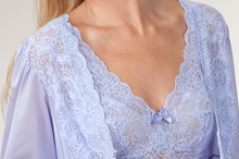 fbb75e5ef Shadowline Nightgown or Robe-Gown Peignoir Set in Silhouette Peri Frost