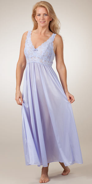 Drape yourself in glamour in the Nicole Satin And Lace Long Gown from Frederick's of Hollywood. Like a classic Hollywood screen star, Nicole blends perfect poise with come-hither sex-appeal. Crafted with luxuriously soft satin, this gown is designed with a beautiful scalloped floral lace detailing.