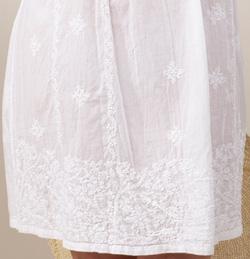 49897d3cc84   Soft   Easy   Cotton Beach Dress - Sleeveless Embroidered Short Length -