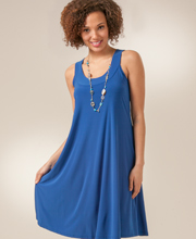 Ellen Parker A-line Sleeveless Dress - Cobalt