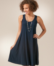 A-Line Style Sleeveless Dress by Ellen Parker in Navy