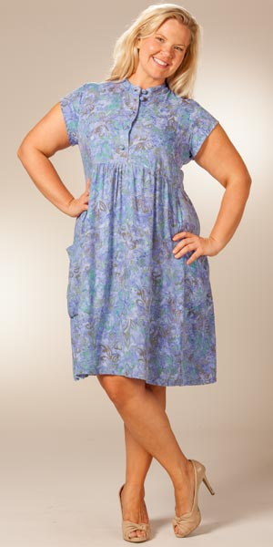 Plus size batik dresses