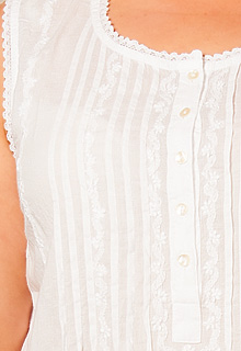 1336023d7a0 La Cera Plus Sleeveless Embroidered Semi-Sheer Beach Coverup in White.    Soft   Easy   Cotton Beach Dress - Sleeveless Embroidered Short Length -