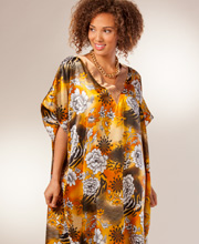 Bronze Beauty Silky Satin Charmeuse Caftan by Winlar