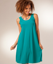 Sleeveless A-Line Dresses - Ellen Parker Fashionable Dress in Jade
