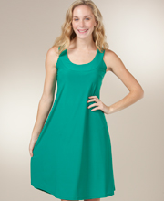 A-Line Dresses - Ellen Parker Sleeveless Knee Length Dress in Spring Green