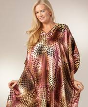 Long Winlar Caftans - Satin One Size Kaftan in Diamond Flurry