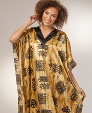 Charmeuse Satin Caftans - Winlar One Size Lounger - Outback Sands