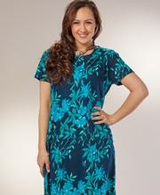 d83b9524dfc11 Casual Plus Size Cotton Dress by La Cera - A-Line in Luna Garden